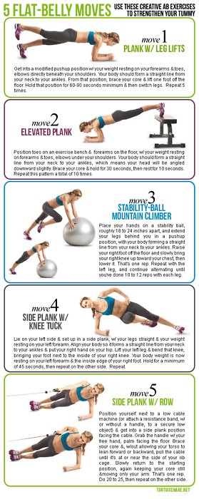 Five Flat-Belly Moves