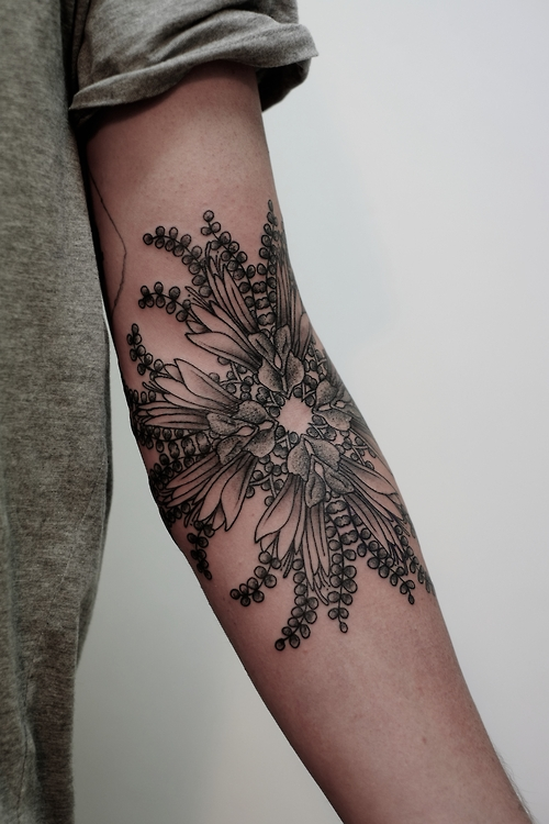 Inner Arm Flower Tattoos