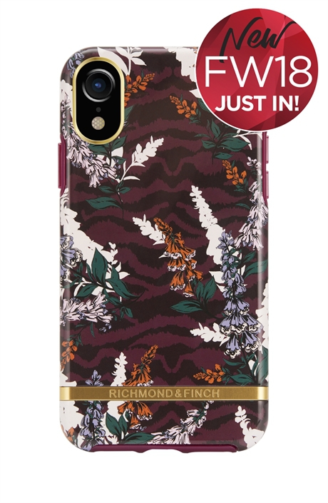 Floral Zebra iPhone XR Case