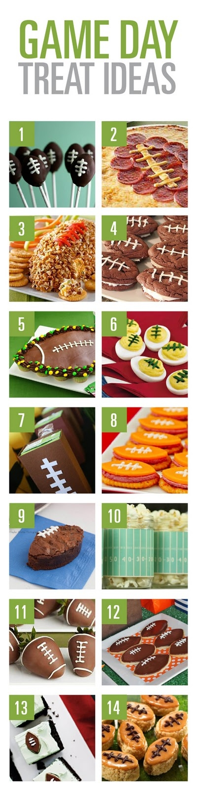 Football Game Day Treat Ideas!