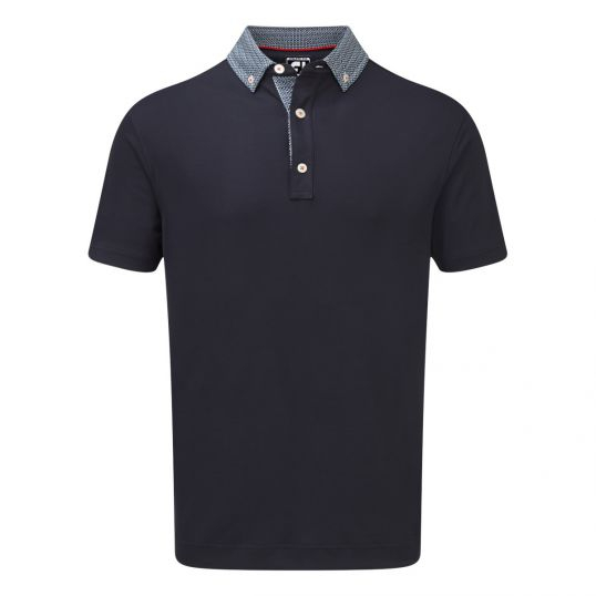 Footjoy Stretch Pique Woven Buttondown Collar Golf Shirt