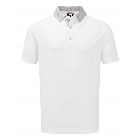 Footjoy Stretch Pique Woven Buttondown Collar Golf Shirt - Image 3