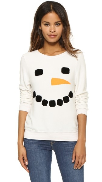 Frosty Face Baggy Beach Jumper by Wildfox