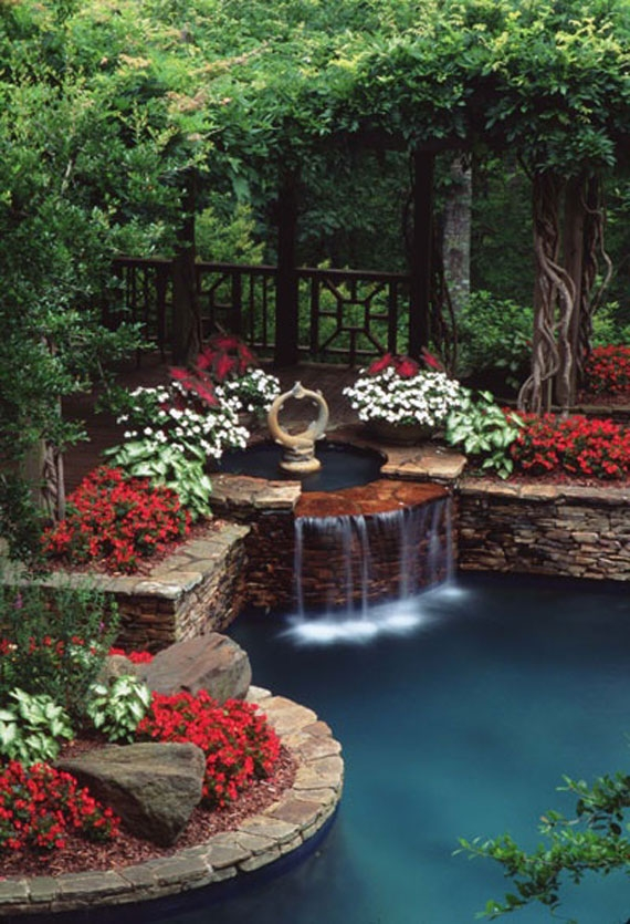 Gardens for around the pool for Garden designs around pools