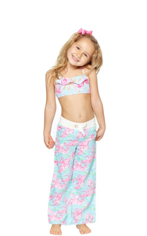 Girls Little Linen Beach Pant