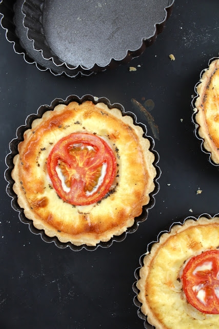 Goat Cheese Tomato Quiche