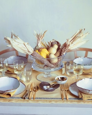 Golden Harvest Thanksgiving Table