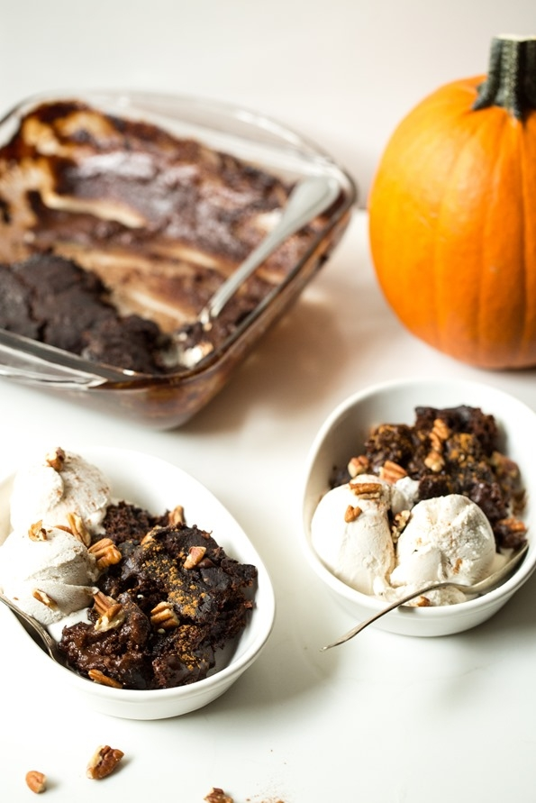Gooey Pumpkin Spice Latte Chocolate Pudding Cake - Image 3