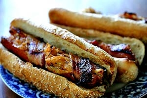Grilled Bacon-Wrapped Stuffed Hotdogs - Image 3