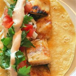 Grilled Fish Tacos with Chipotle-Lime Dressing - FaveThing.com