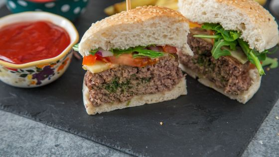 Grilled Herb-Garlic Butter Burgers