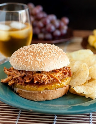 Hawaiian BBQ Pulled Chicken Sandwich