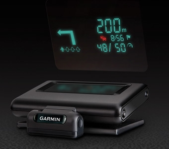 Head-Up Display by Garmin: Projects navigation information onto your windshield
