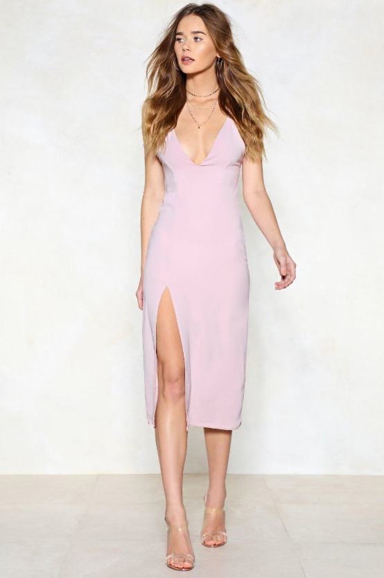 High Esteem Midi Dress in Pink from Nasty Gal