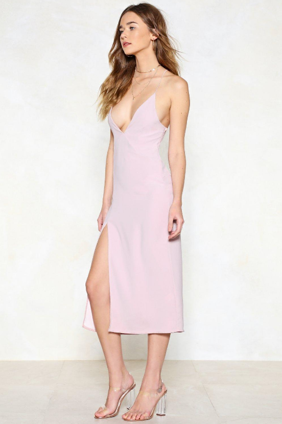High Esteem Midi Dress in Pink from Nasty Gal - Image 2