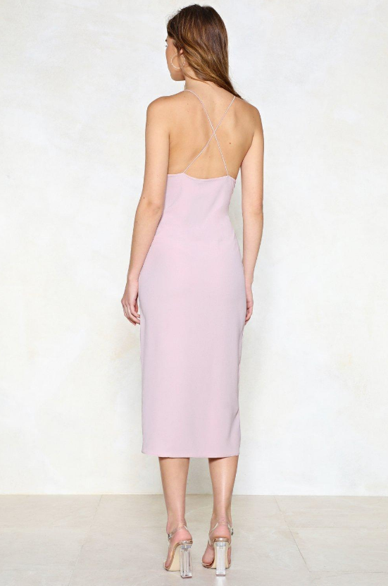 High Esteem Midi Dress in Pink from Nasty Gal - Image 3