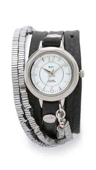 Highline Chrome Stones Watch by La Mer Collections