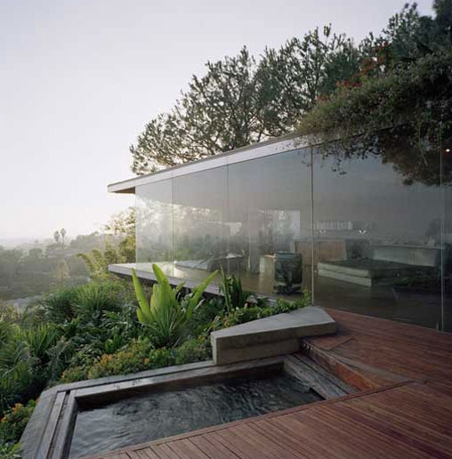 Hollywood Hills Glass Wall House in California