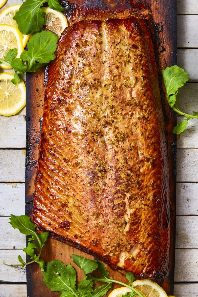 Honey-Ginger Cedar Plank Salmon