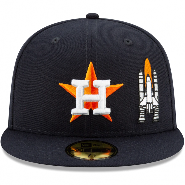 Houston Astros New Era Team Fitted Hat - Image 2