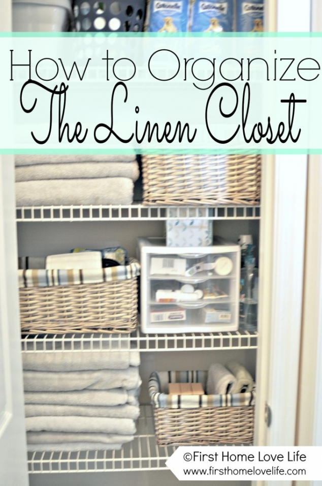 how to organize the linen closet. Black Bedroom Furniture Sets. Home Design Ideas