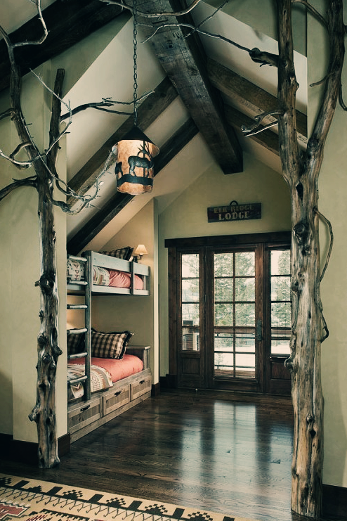 Indoor trees for rustic decor