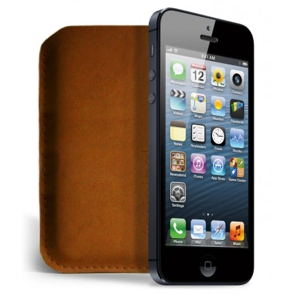iPhone 5 Sleeve in Brown Leather from Mujjo - Image 2