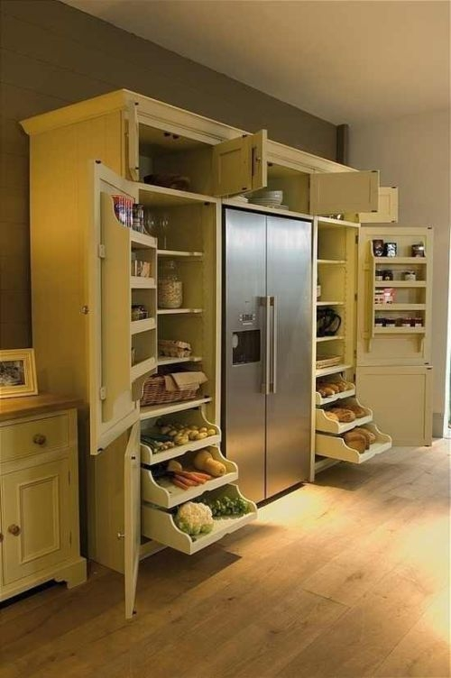 Kitchen organization with this pantry idea