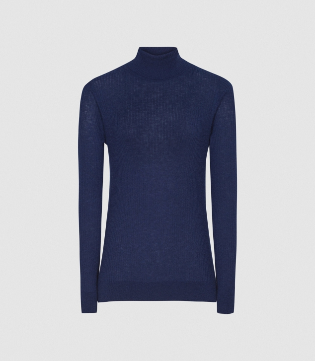 Knitted Roll Neck Sweater - Image 3