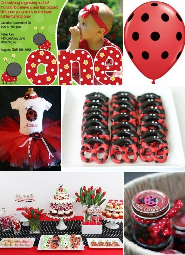 Surprising Ladybug 1St Birthday Party Favething Com Personalised Birthday Cards Cominlily Jamesorg