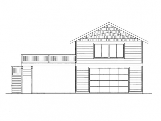 Large 4 car garage apartment with double carport along side ...