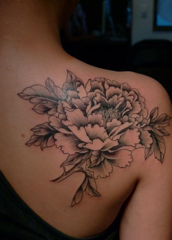 Flower Shoulder Tattoo: Large Flower Shoulder Tattoo