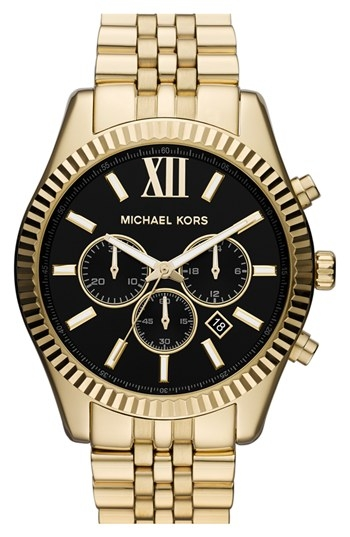 'Large Lexington' Chronograph Bracelet Watch by Michael Kors