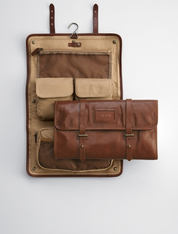Leather Travel Case For Toiletries