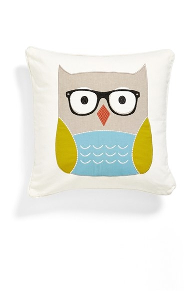 Levtex Owl with Glasses Accent Pillow