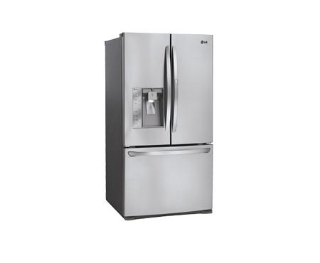 Lg 30 5 Cu Ft French 3 Door Refrigerator With Door In