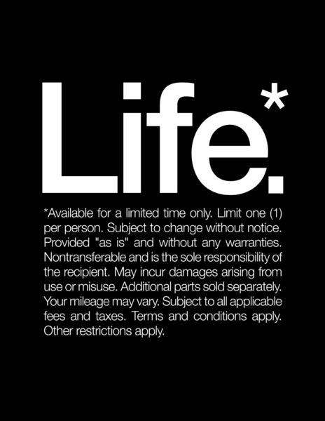 Life* (fine print to live by) - FaveThing.com