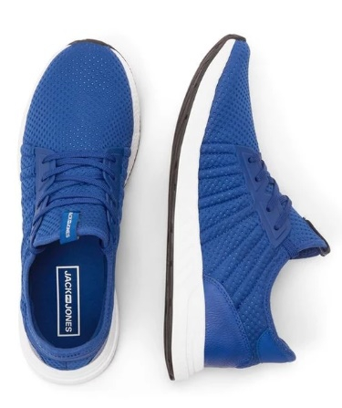 Lightweight Blue Mesh Sneakers