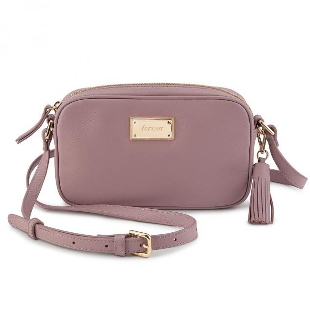 Lilac Leather Crossbody Bag