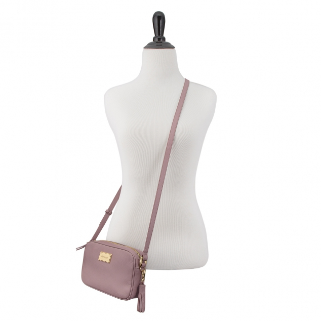Lilac Leather Crossbody Bag - Image 3