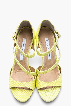 Lime Green Snakeskin Jujette Heeled Sandals - Image 2