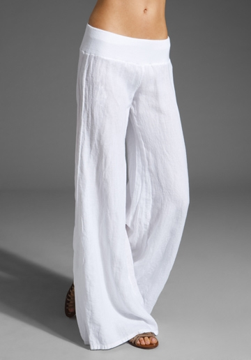 Caroline Rose Tissue Linen Wide-Leg Pants, Plus Size Details Caroline Rose tissue linen pants. Linen fabric is stable and does not