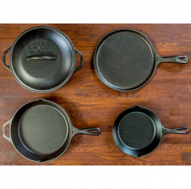 Lodge Five-Piece Cast-Iron Cookware Set - Image 2