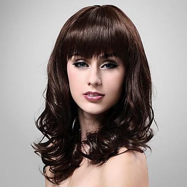 long wave side bang 100 human black hair wig favething