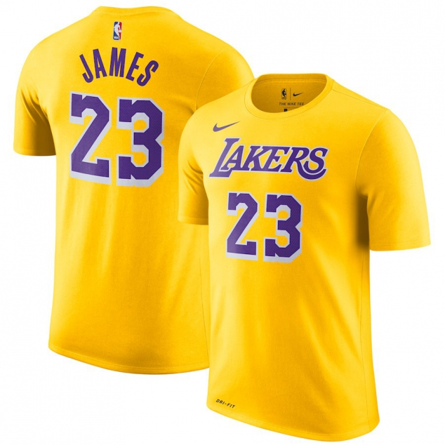 067bfdcecb582 Los Angeles Lakers LeBron James Nike NBA Men s Icon Player T-shirt ...