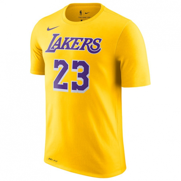 Los Angeles Lakers LeBron James Nike NBA Men's Icon Player T-shirt - Image 2