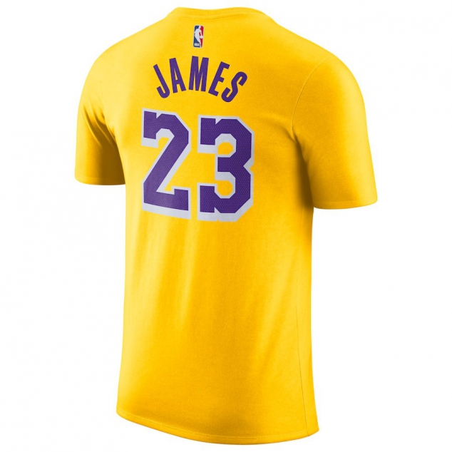 Los Angeles Lakers LeBron James Nike NBA Men's Icon Player T-shirt - Image 3