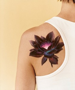 Lotus Flower Tattoo On Shoulder