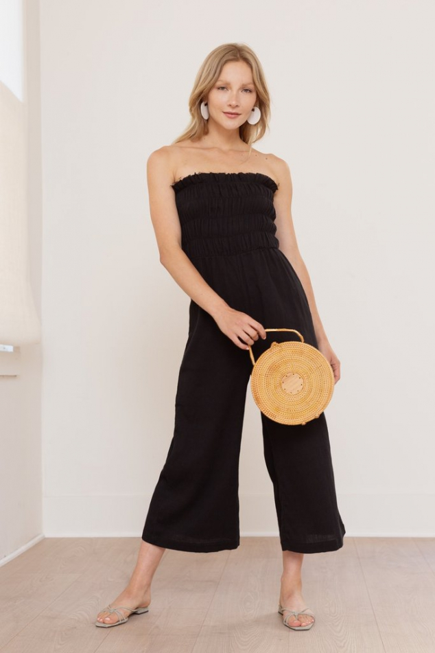 Lucrecia Sleeveless Smocked Jumpsuit