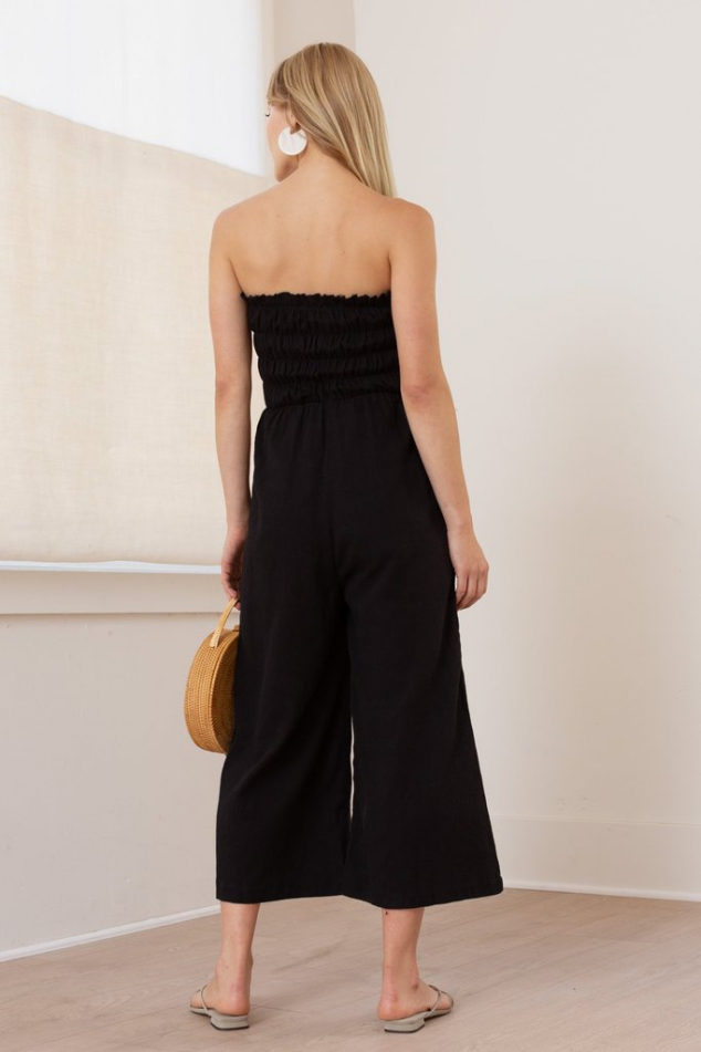 Lucrecia Sleeveless Smocked Jumpsuit - Image 3